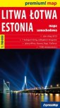 Liwa, Łotwa, Estonia mapa samochodowa - okładka książki
