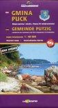 Gmina Puck mapa turystyczna (skala - okładka książki