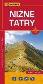 Niżne Tatry mapa turystyczna (skala - okładka książki