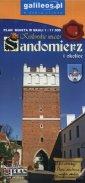Sandomierz i okolice plan miasta - okładka książki