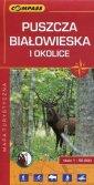 Puszcza Białowieska i okolice mapa - okładka książki