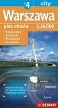 Warszawa plus 4 mapa samochodowa - okładka książki