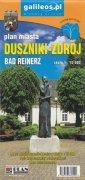 Duszniki-Zdrój plan miasta (skala - okładka książki