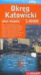 Okręg Katowicki plan miasta (skala - okładka książki