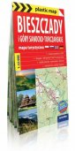 Bieszczady foliowana mapa turystyczna - okładka książki