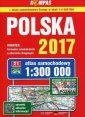 Atlas samochodowy Polska 2017 1:300 - zdjęcie reprintu, mapy