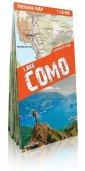 Jezioro Como mapa trekkingowa. - okładka książki