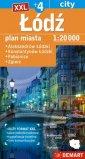 Łódź +4 mapa samochodowa XXL - okładka książki