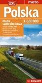 Polska mapa samochodowa 1:650 000 - okładka książki