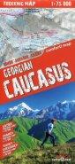Gruzja Kaukaz mapa trekingowa 1:75 - okładka książki