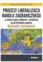 Procesy liberalizacji handlu zagranicznego - okładka książki