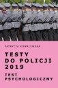 Testy do Policji 2019. Test psychologiczny - okładka książki